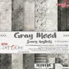 GRAY MOOD - zestaw papierów 15,25x15,25cm