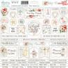 Arkusz naklejek tekturowych Tiny Miracle 10/  j.angielski- Mintay papers