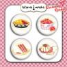 plakietki ozdobne flair buttons - kulinarne 2