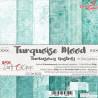 TURQUOISE MOOD - zestaw papierów 15,25x15,25cm  /CraftO'Clock
