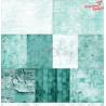 TURQUOISE MOOD - zestaw papierów 30,5x30,5cm  /CraftO'Clock