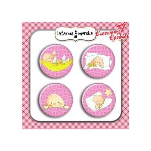 plakietki ozdobne flair buttons-zestaw dziewczynka