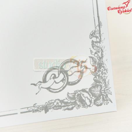 Karta ślubna A4. 20 sztuk, srebrny