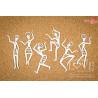 Tekturka - Tańczące figury - Colors of Africa LA21153