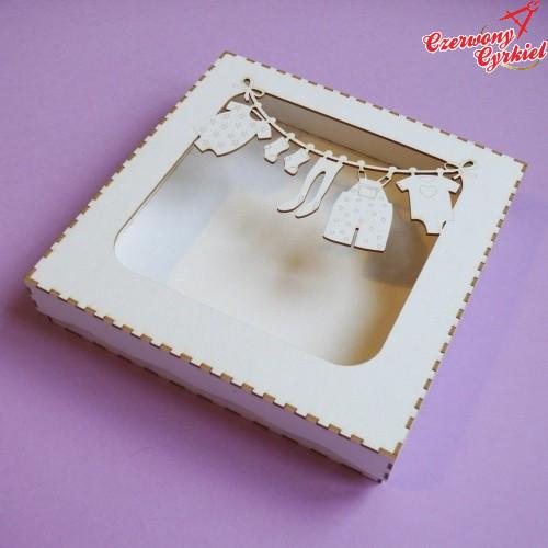 Pudełko do Kartek 135x135 NA SZNURKU