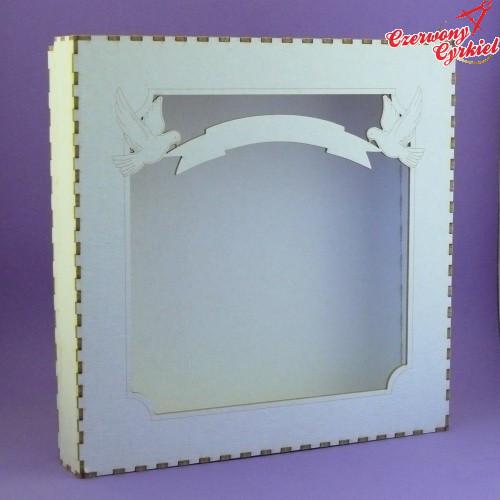 Pudełko do Kartek 135x135 - Gołąbki - Tektura 1,5