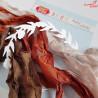 CRIB-012 RIBBONS - tasiemki vintage - BLOOMING GRUNGE - Craft&You Design
