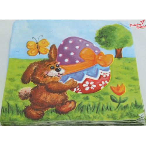 Serwetka Zajac z jajem