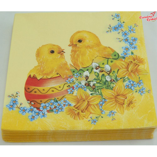 Serwetka dwa kurczaki