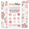 Bloczek papierów 15x15-  Pop Up Paper Pad Flowers
