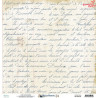 Dwustronny papier -  Written Memories  01 /30x30cm/Mintay