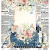 Dwustronny papier -  Written Memories  02 /30x30cm/Mintay