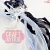 CRIB-015 RIBBONS - tasiemki vintage - ARCTIC WINTER - Craft&You Design