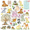 Papier jednostronny-elementy-Craft&You Design 30,5x30,5 WOODLAND STORY 08