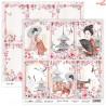 Dwustronny papier JAPANESE BEAUTY 05 Scrap Boys   30,5x30,5cm