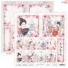 Dwustronny papier JAPANESE BEAUTY 06 Scrap Boys   30,5x30,5cm