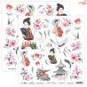 Dwustronny papier JAPANESE BEAUTY 07 Scrap Boys   30,5x30,5cm