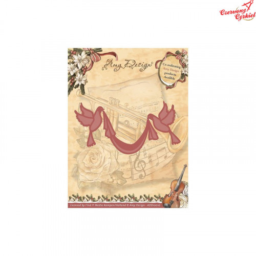 Wykrojnik Amy Design - Vintage Christmas Collection Wykrojnik Doves with Sash