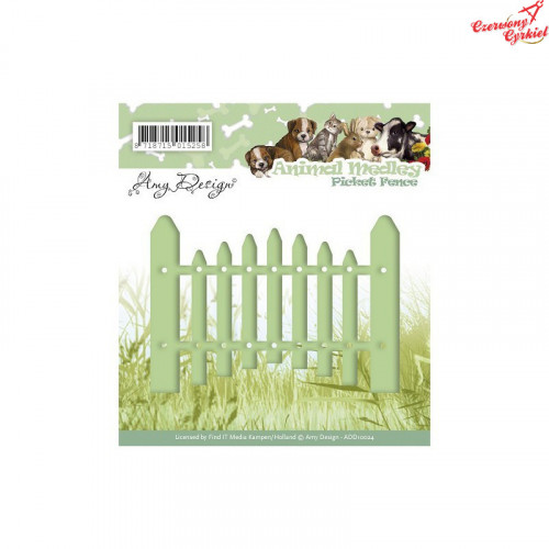 Wykrojnik Amy Design - Animal Medley - Picket Fence