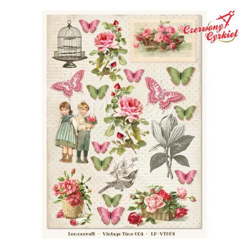 Papier ozdobny - Vintage Time 004