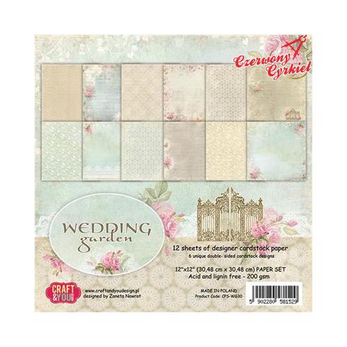 ZESTAW PAPIERÓW z kolekcji Wedding Garden Craft&You Design.