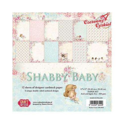 ZESTAW PAPIERÓW z kolekcji Shabby baby Craft&You Design.