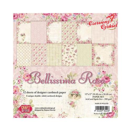 DWUSTRONNY PAPIER Z KOLECJI    z kolekcji Bellissima Rosa Craft&You Design.