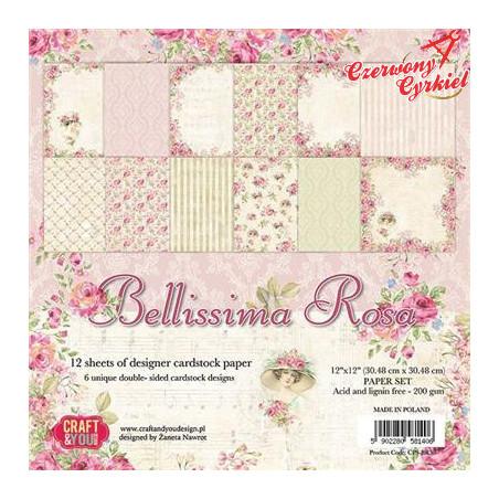 BLOCZEK PAPIERÓW  z kolekcji Bellissima Rosa Craft&You Design.