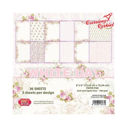 BLOCZEK PAPIEÓW  z kolekcji White Day Craft&You Design.