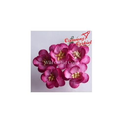 Głęboko różowe kwiaty wiśni 5SZT, 25 MM