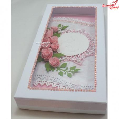 Pudełko DL z okienkiem prostokątnym białe matowe