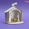 1367 Tekturka - Bożonarodzeniowa Stajenka 3D